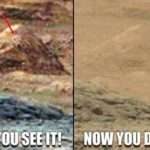 Petroglyph of an Ancient Astronaut Found on Mars Pyramid? (Video)